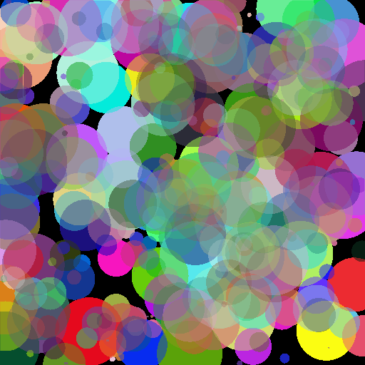 300 random spheres added and normalized